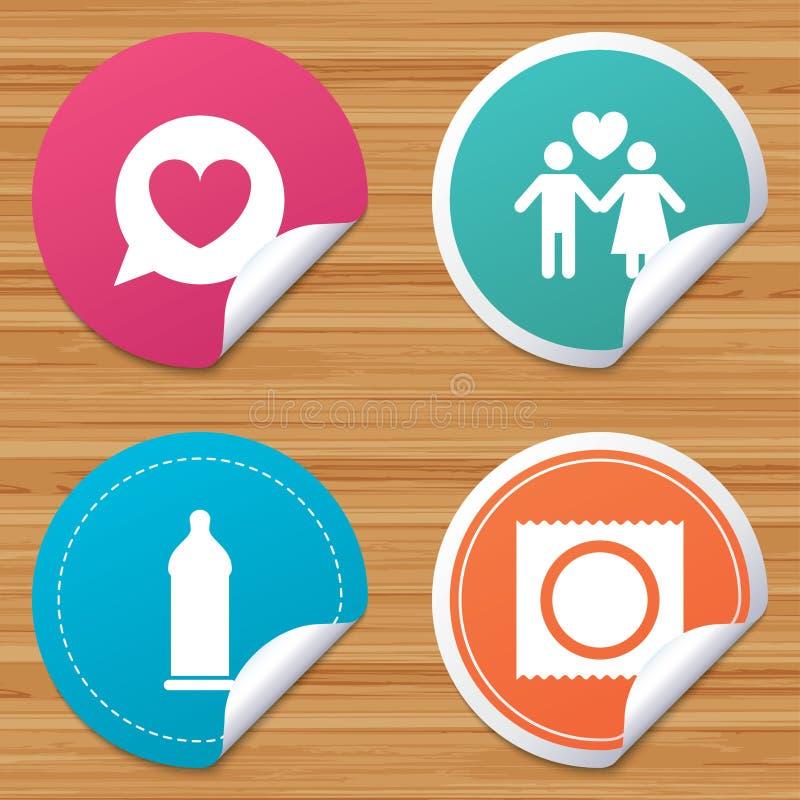 Download Значки безопасного секса презерватива Знак пар любовников Иллюстрация вектора - иллюстрации насчитывающей латекс, подруга: 81805619