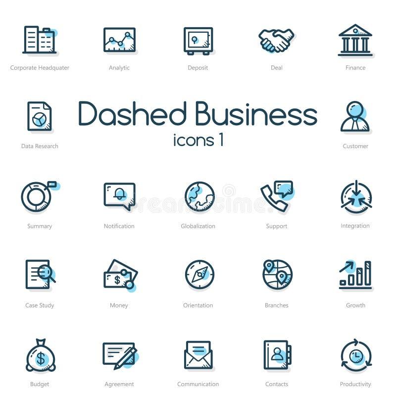 Значки бизнес-линии установленные с голубым акцентом бесплатная иллюстрация