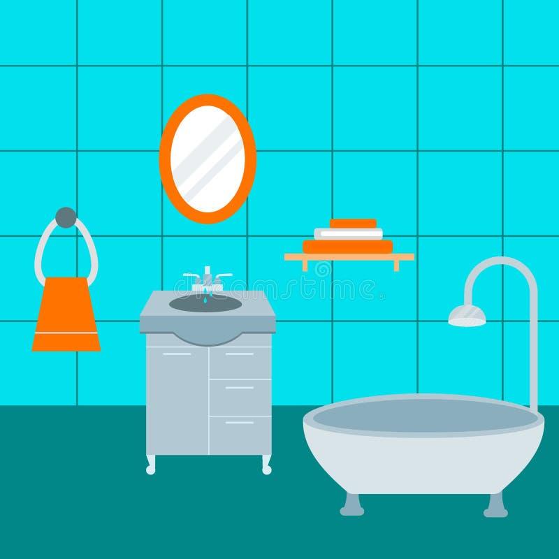 Значки ванной комнаты обрабатывают иллюстрацию вектора красоты чистки гигиены символов сбережений воды моя иллюстрация вектора