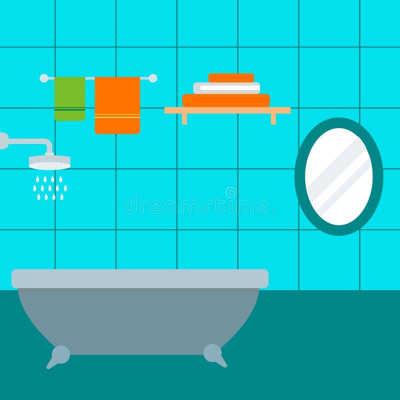 Значки ванной комнаты обрабатывают иллюстрацию вектора красоты чистки гигиены символов сбережений воды моя бесплатная иллюстрация