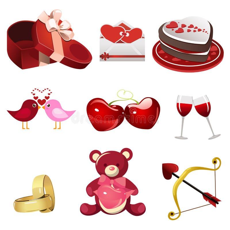 Значки валентинки иллюстрация штока