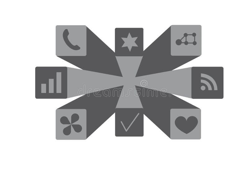 Значки веб-приложение визуальные иллюстрация штока