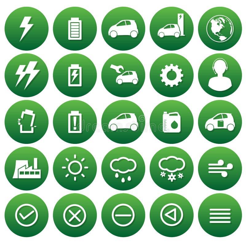Значки вектора автомобиля eco стоковые изображения rf