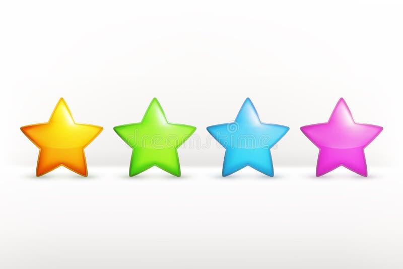 Значки вектора звезд иллюстрация вектора