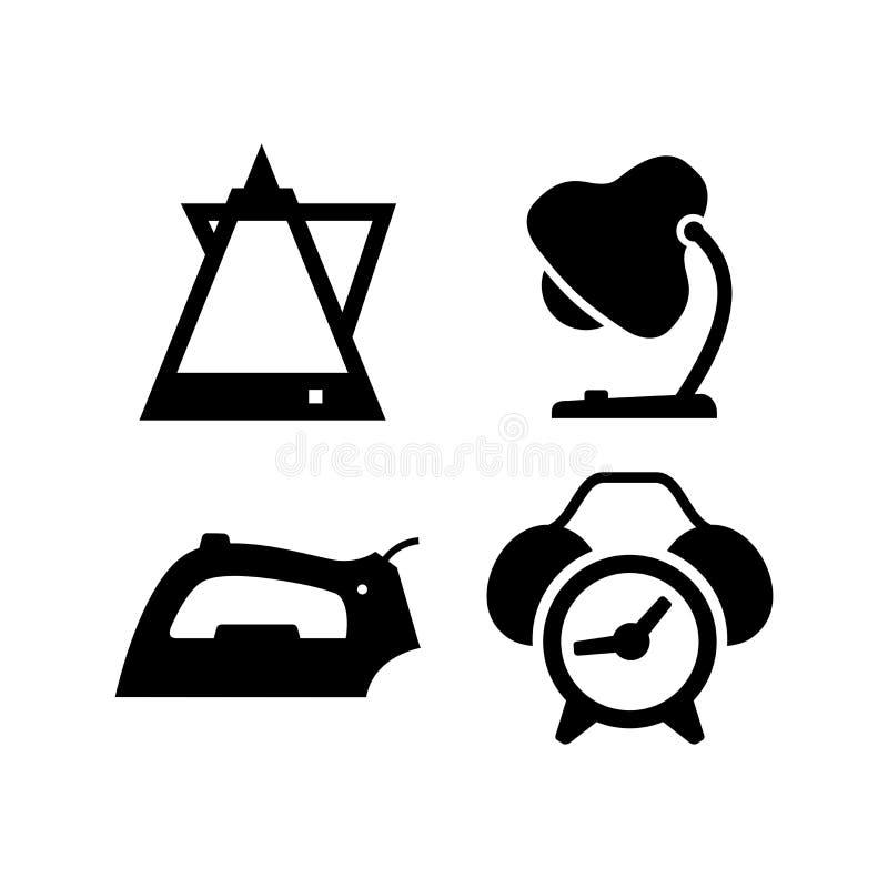Значки вектора домочадца стоковое изображение rf