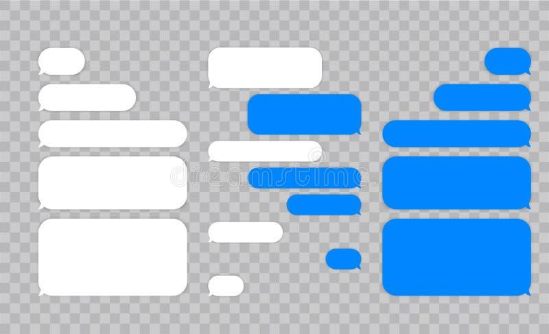 Значки вектора пузырей болтовни сообщения для посыльного Шаблон для болтовни сообщения также вектор иллюстрации притяжки corel иллюстрация штока