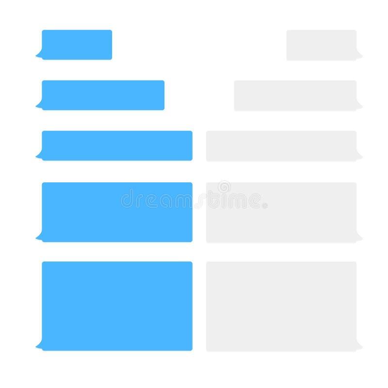 Значки вектора пузырей болтовни сообщения для посыльного Шаблон для болтовни сообщения также вектор иллюстрации притяжки corel иллюстрация вектора
