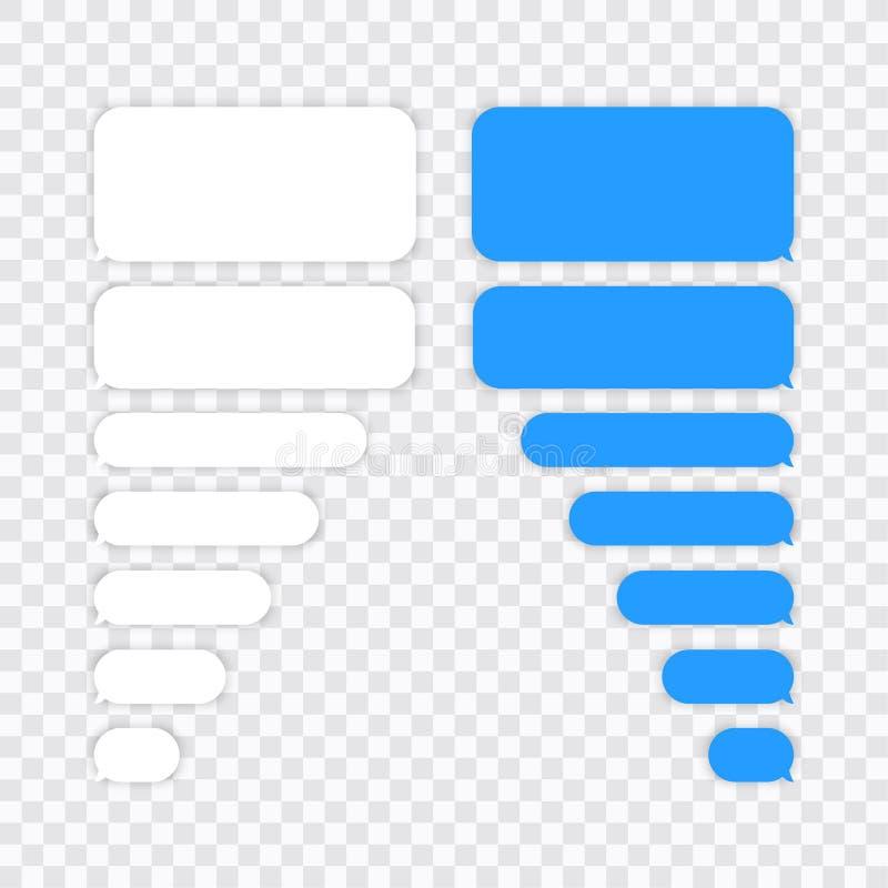 Значки вектора пузырей болтовни сообщения для посыльного Шаблон для болтовни сообщения r иллюстрация штока