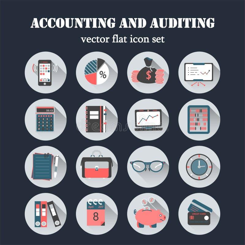 Значки вектора счетоводства плоские бесплатная иллюстрация
