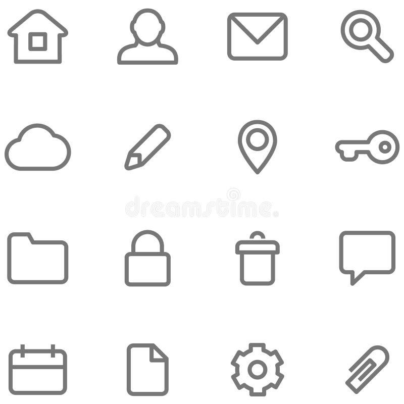 Значки вектора для простого минималистского дизайна иллюстрация вектора