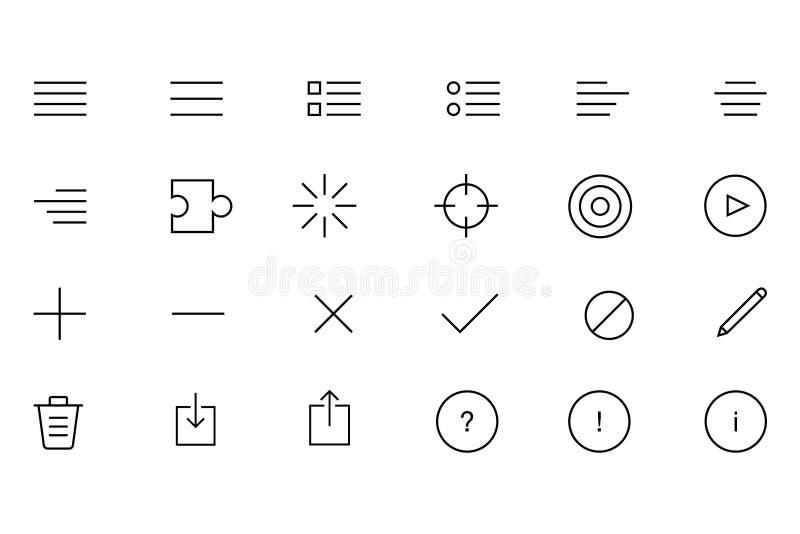 Значки вектора IOS и андроида бесплатная иллюстрация