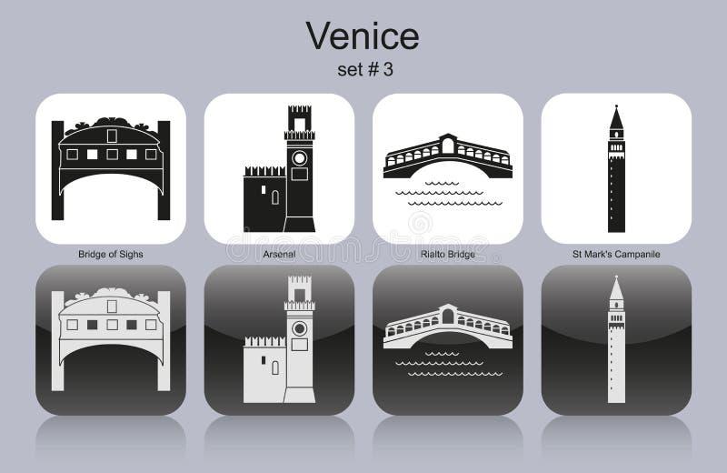 Значки Венеции бесплатная иллюстрация