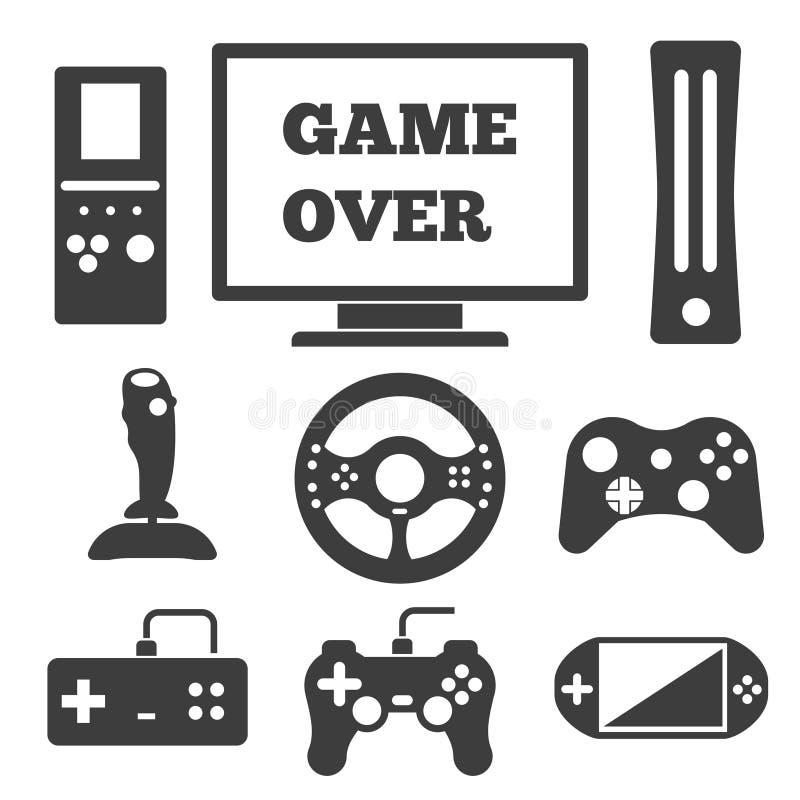 Значки видеоигры занимательные иллюстрация штока