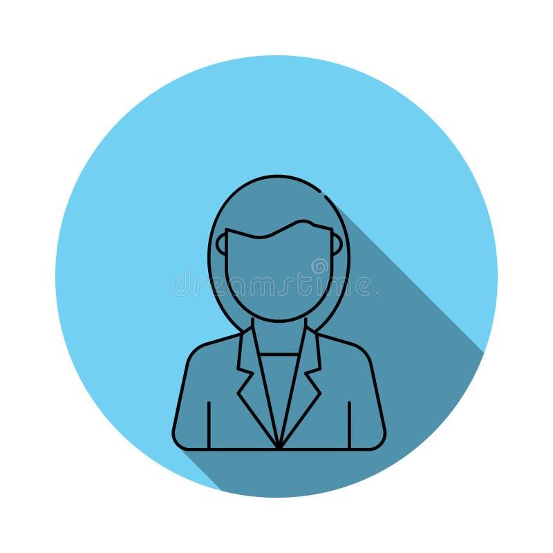 Значки воплощения бизнес-леди Элементы воплощения в плоско сини покрасили значок Наградной качественный значок графического дизай бесплатная иллюстрация
