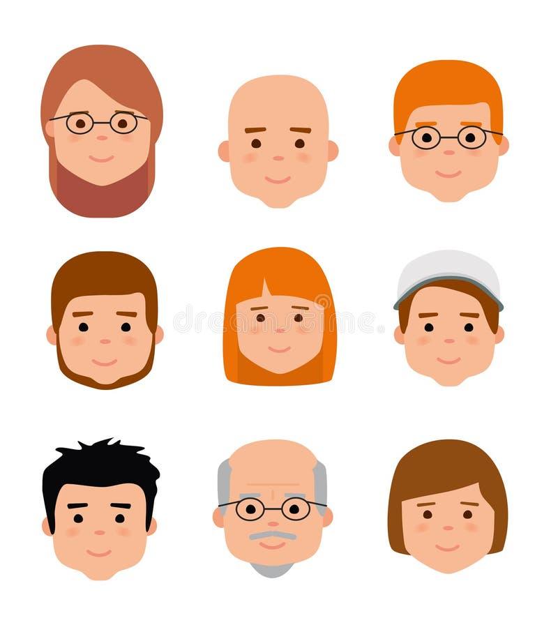 Значки воплощения Поколения людей на различных временах бесплатная иллюстрация