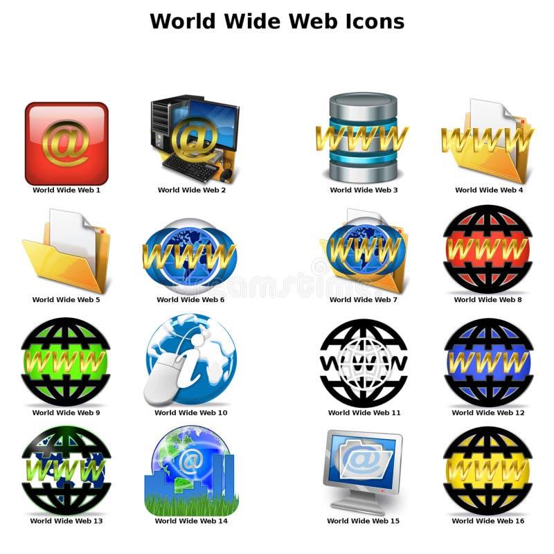 Значки Всемирного Веба стоковая фотография rf