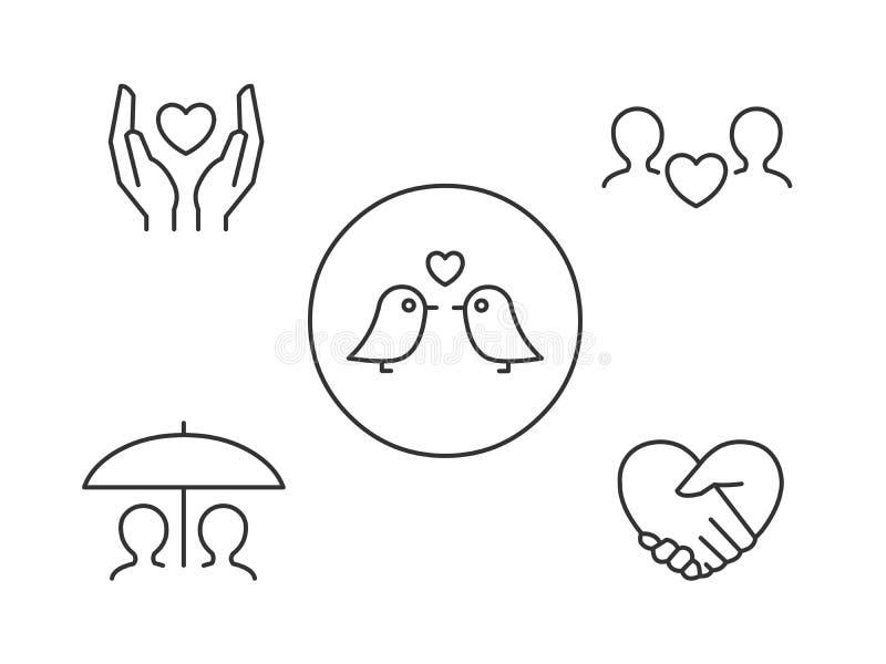 Значки влюбленности бесплатная иллюстрация
