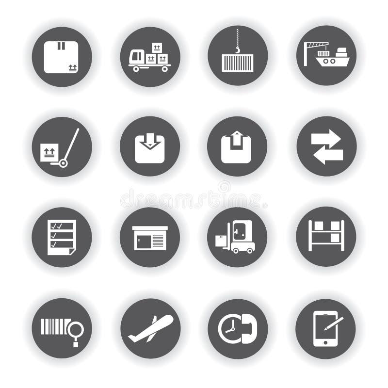 Значки груза, круглые кнопки иллюстрация штока