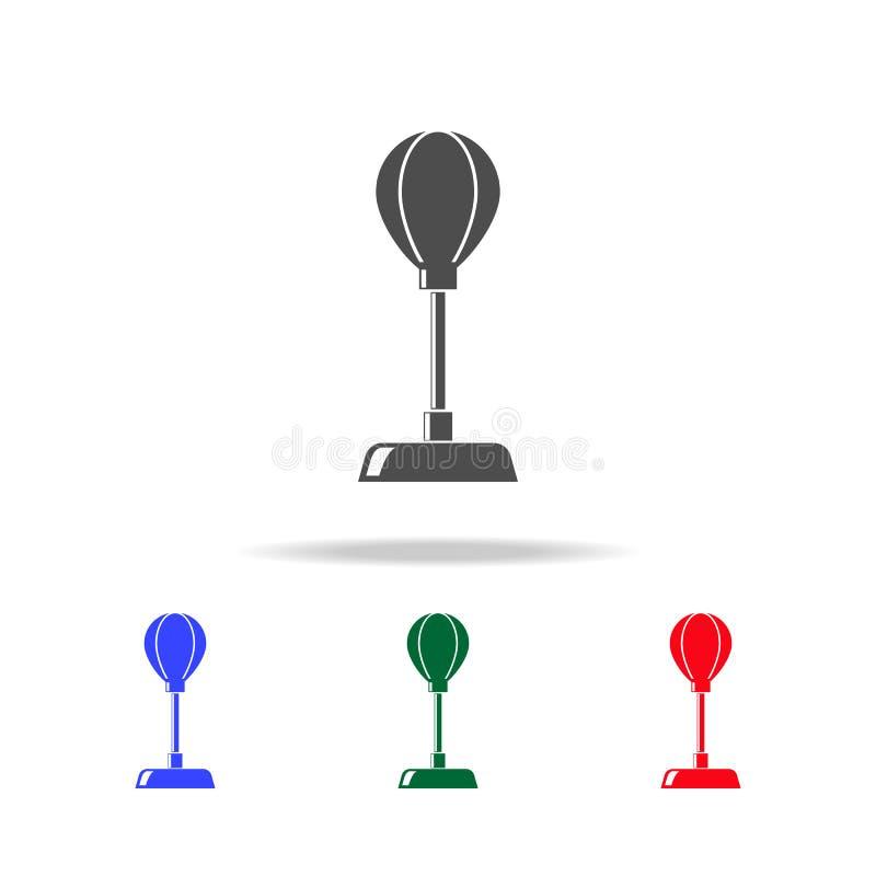 Значки груши Элементы элемента спорта в multi покрашенных значках Наградной качественный значок графического дизайна Простой знач иллюстрация штока