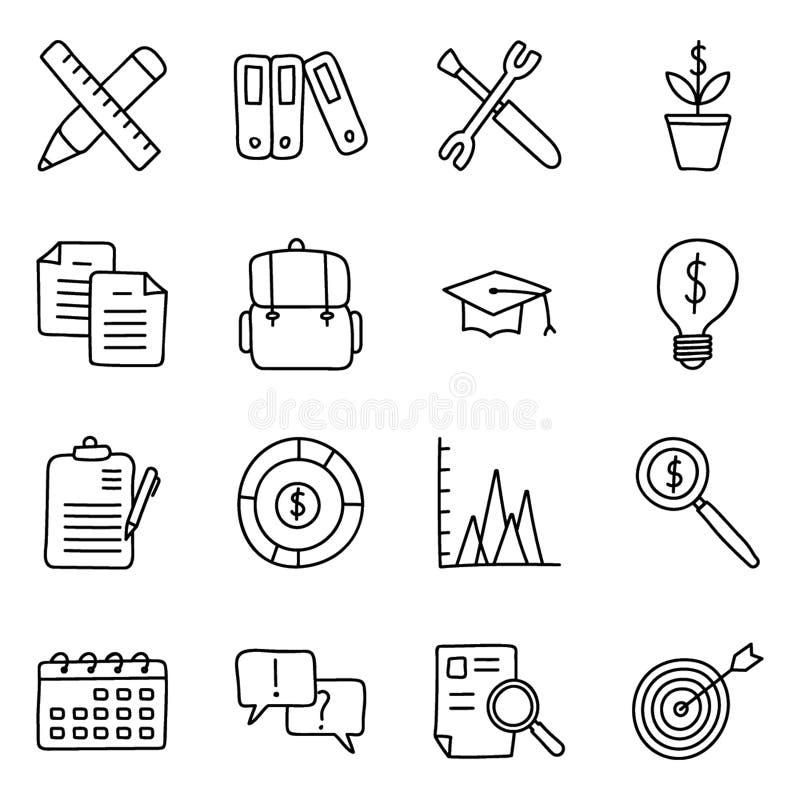 Значки дела и финансов связывают бесплатная иллюстрация