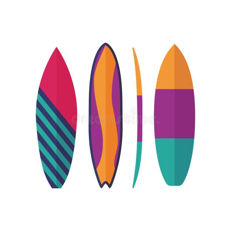 Значки доск серфинга иллюстрация штока