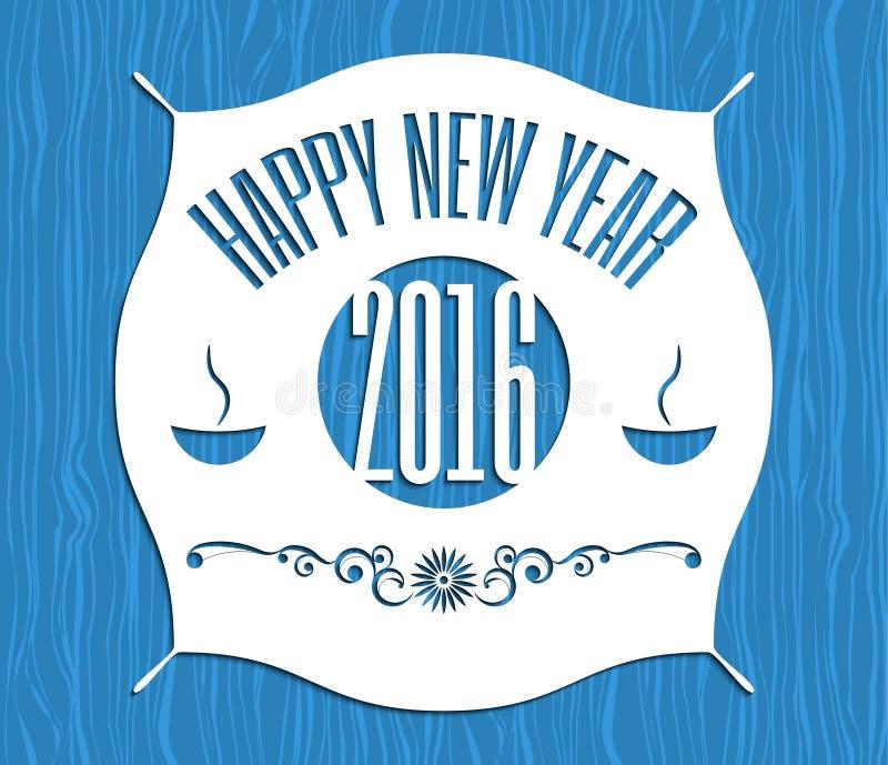 Значки, ленты и ярлыки Нового Года ретро винтажные иллюстрация штока