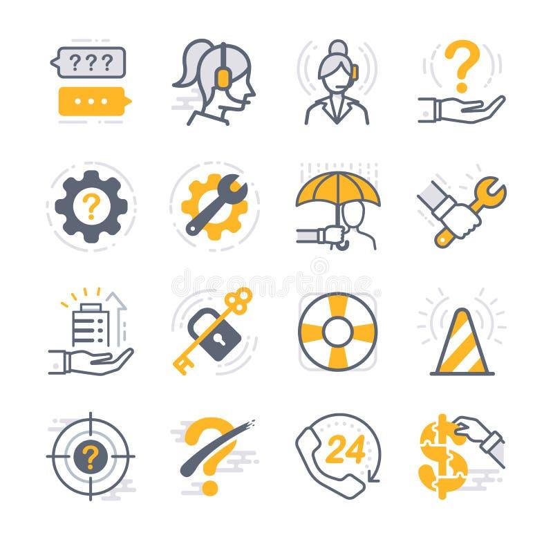 Значки деловой поддержки иллюстрация вектора