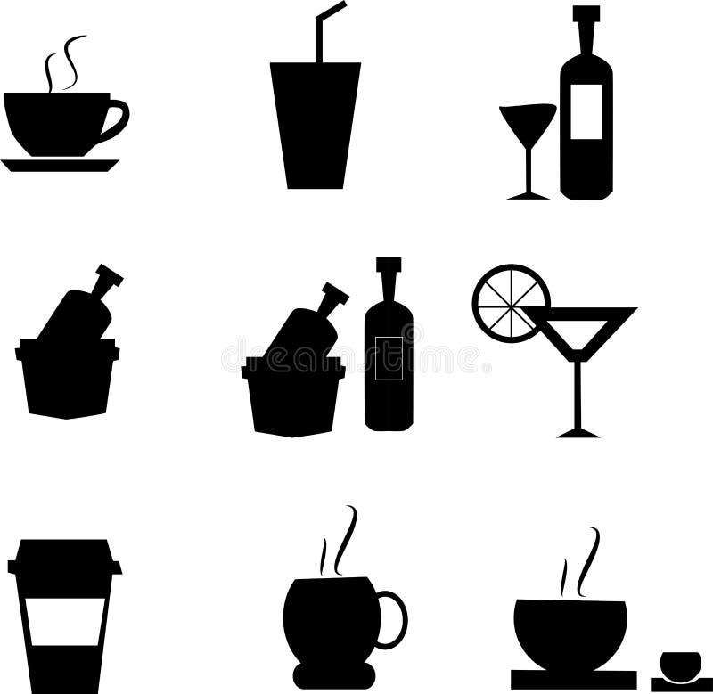 Значки еды и кухни установленные для сети иллюстрация вектора