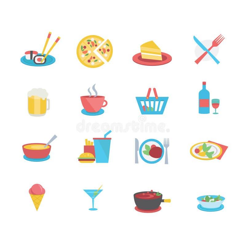 Значки еды иллюстрация штока