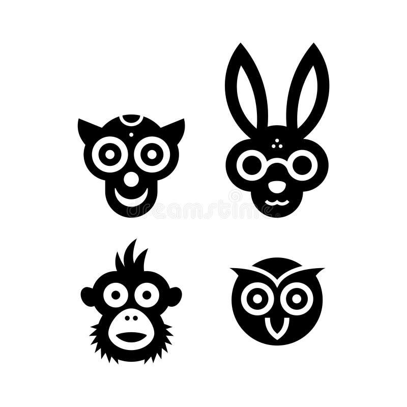 Значки животных стоковое изображение rf