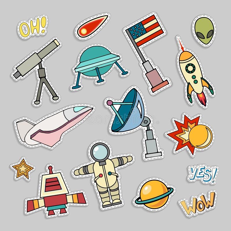 Значки заплаты космоса бесплатная иллюстрация