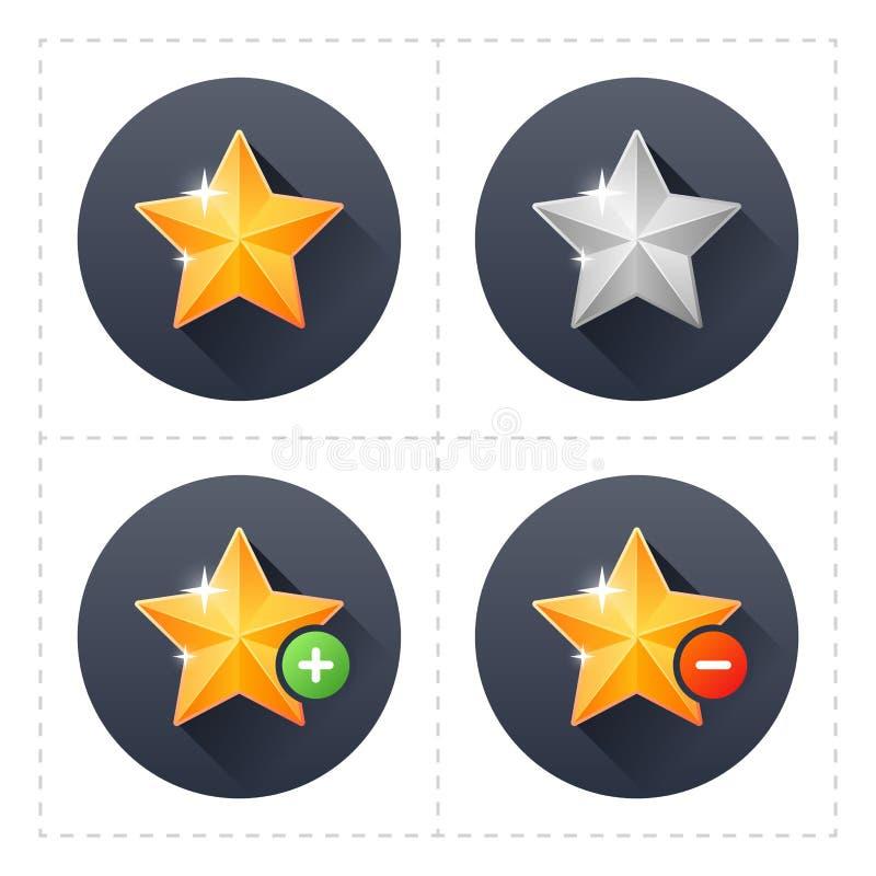 Значки звезды иллюстрация вектора