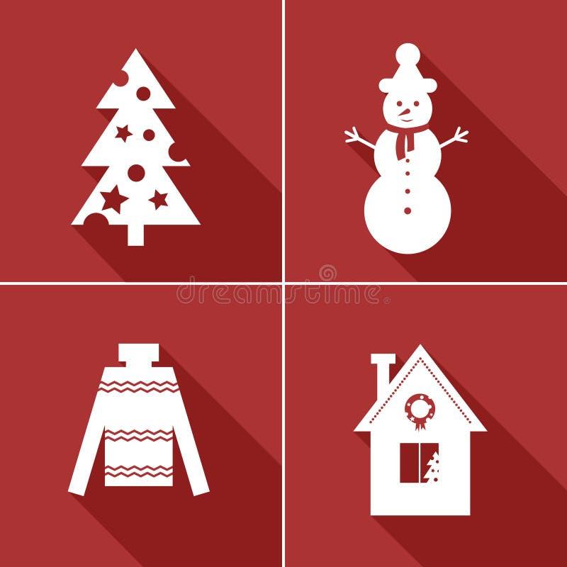 Значки зимы стоковые изображения