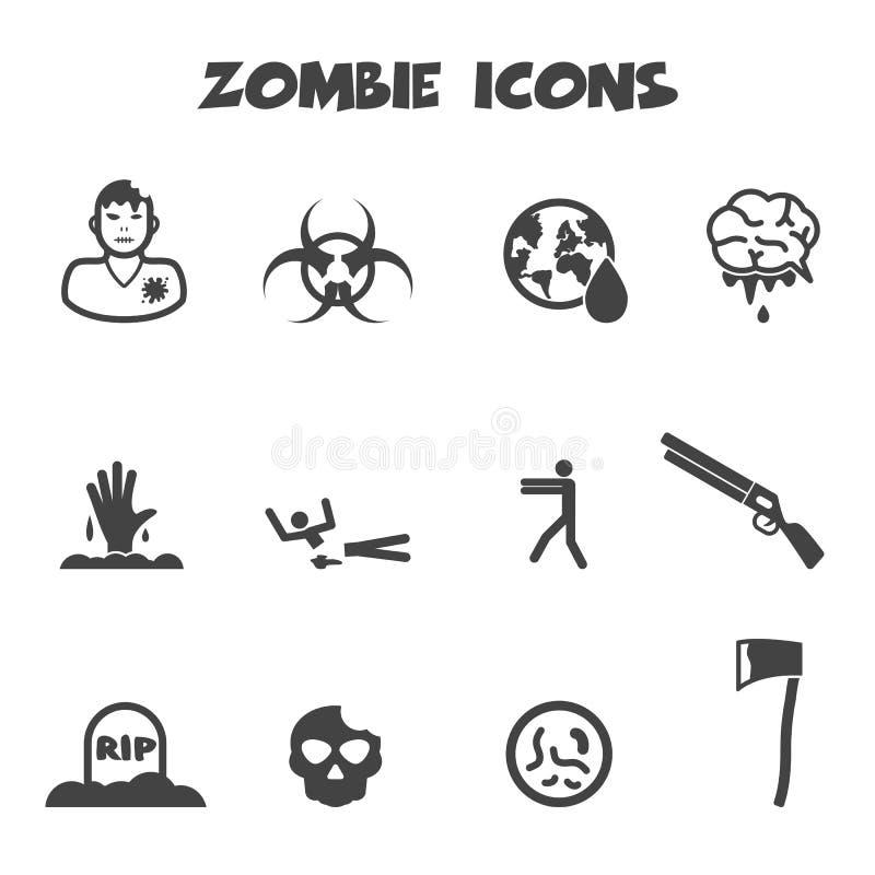Значки зомби иллюстрация штока
