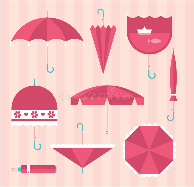 Значки зонтика иллюстрация штока