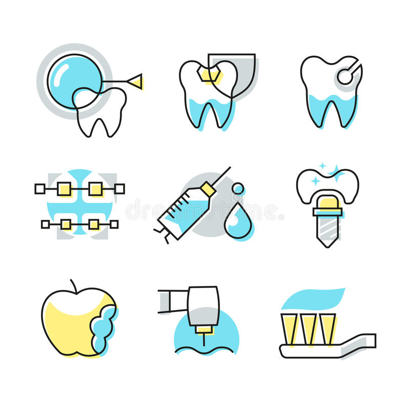 Значки зубоврачебной заботы бесплатная иллюстрация