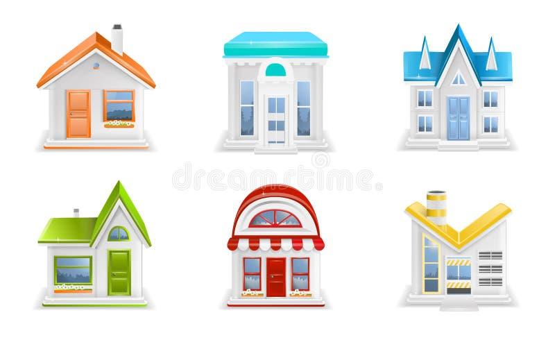 Значки здания иллюстрация штока