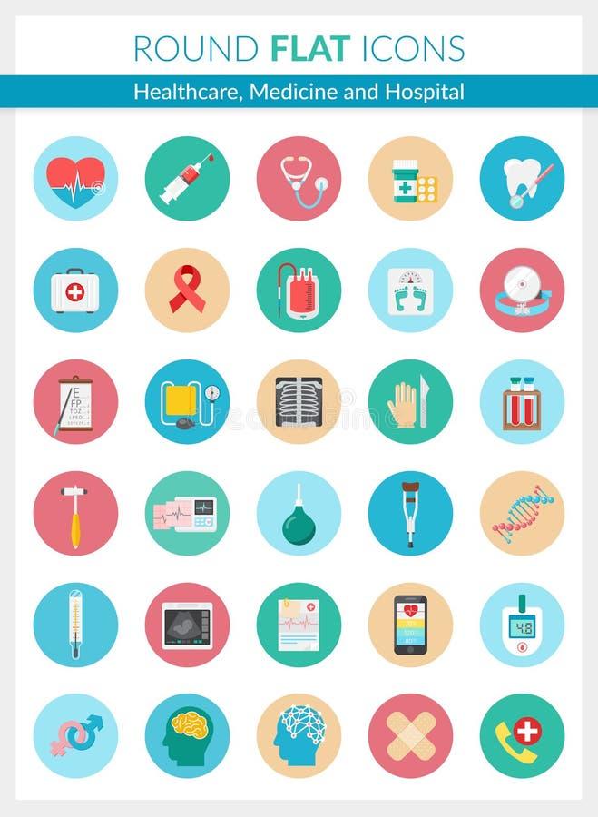 Значки здравоохранения и медицины иллюстрация штока