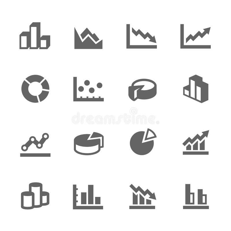 Значки диаграммы бесплатная иллюстрация