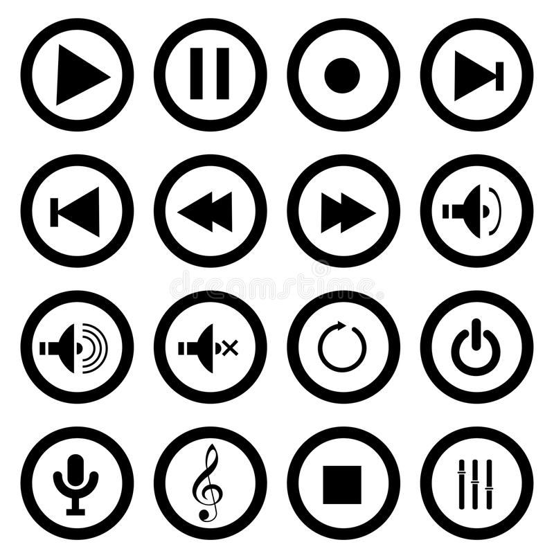 Значки игры музыки бесплатная иллюстрация