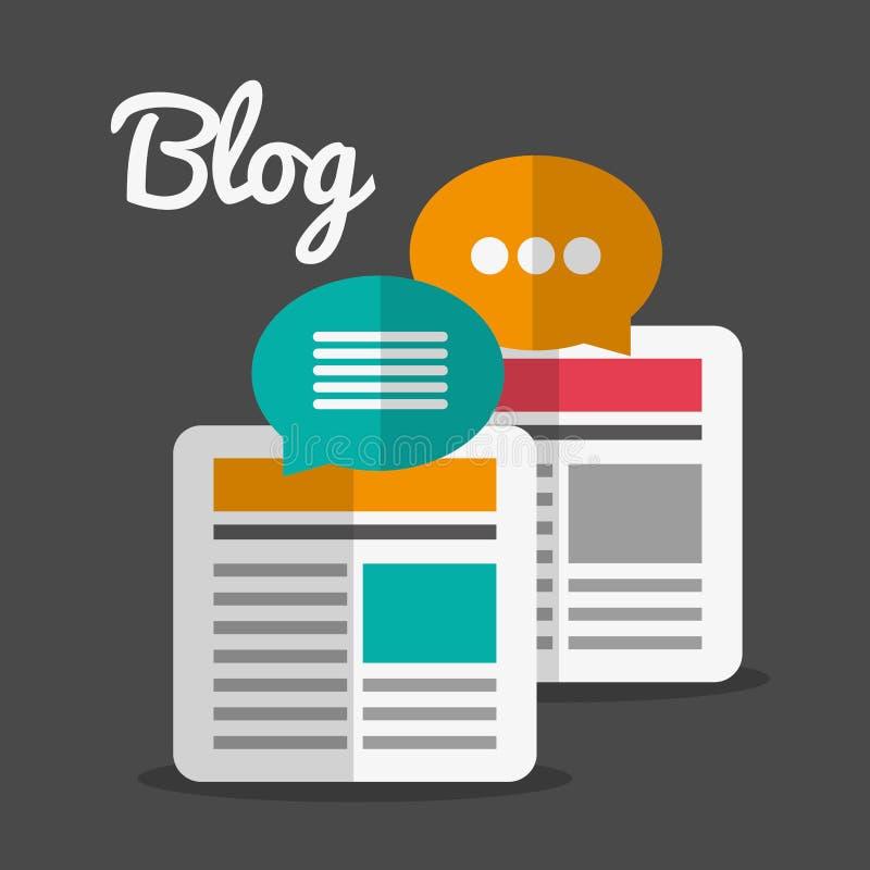 Значки дизайна блога иллюстрация штока