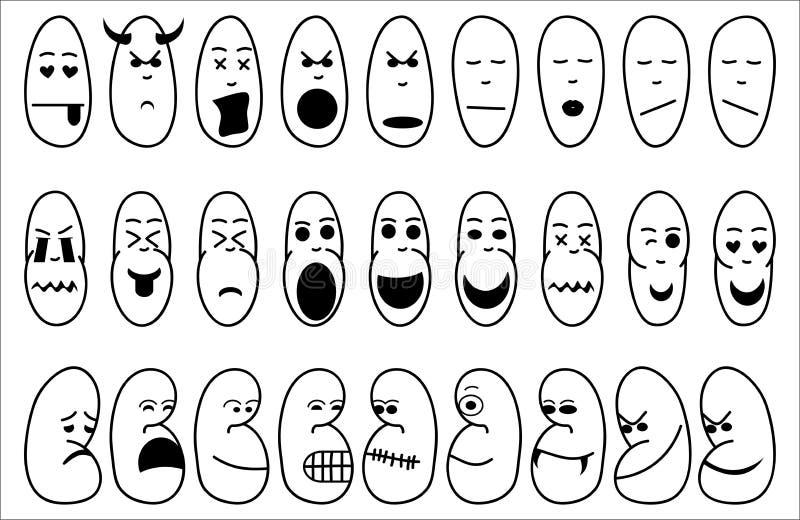 Значки иллюстрируя эмоцию иллюстрация штока