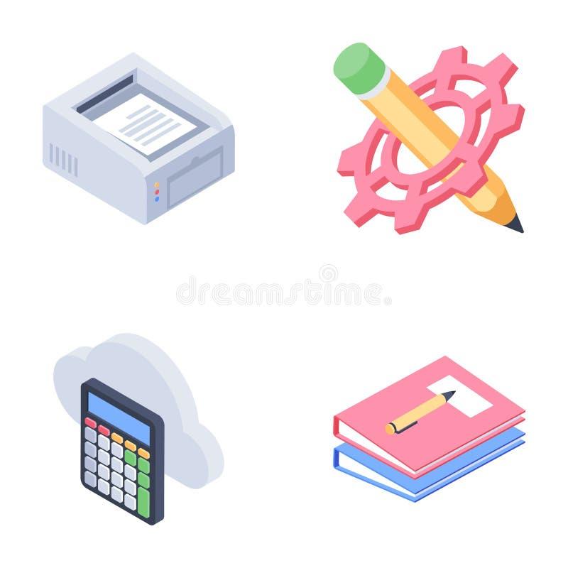 Значки инструментов для конструирования иллюстрация штока