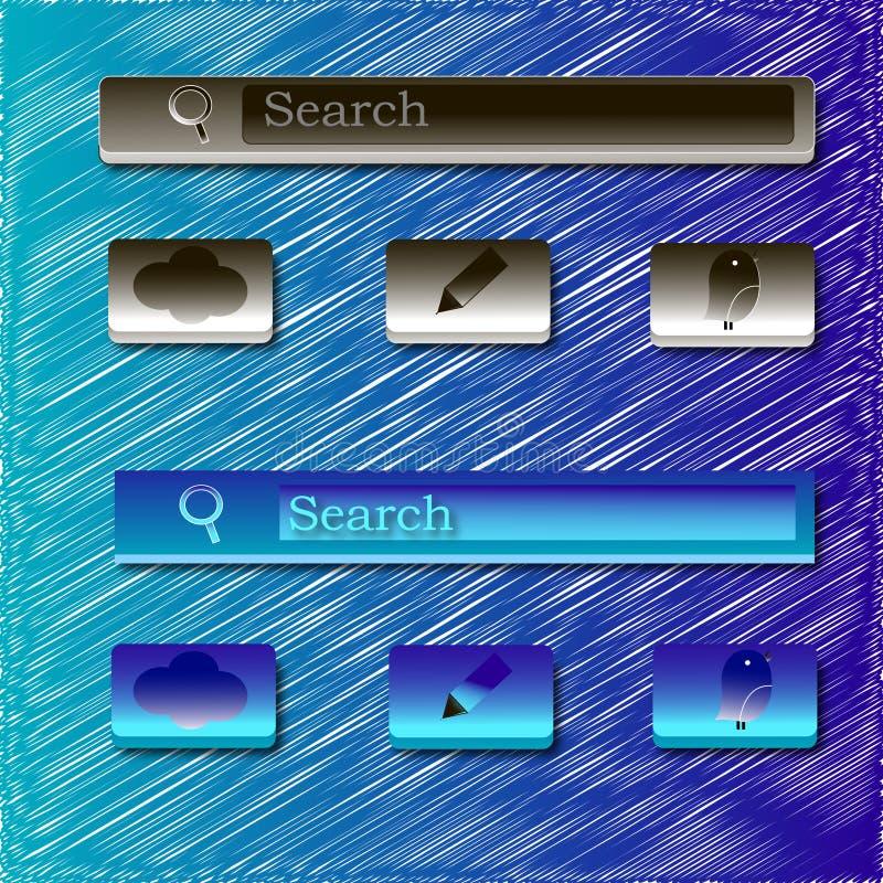 Значки интерфейса стоковые фотографии rf
