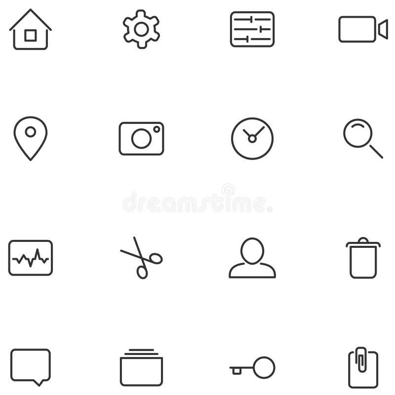Значки и кнопки вектора для вашего дизайна бесплатная иллюстрация