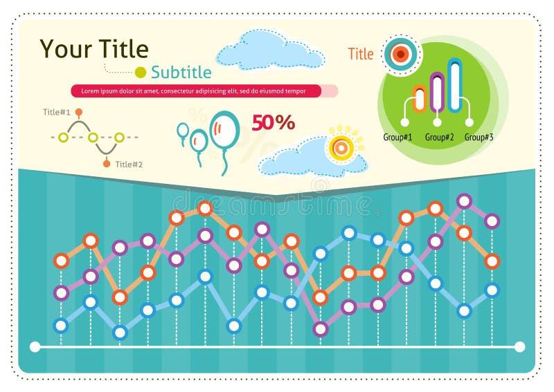 Значки и элементы погоды Infographics иллюстрация штока
