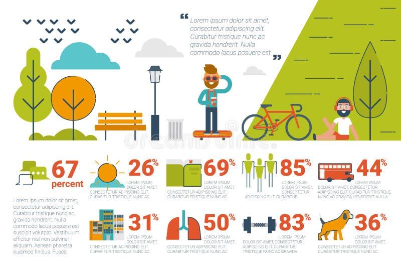 Значки и элементы Infographic концепции парка бесплатная иллюстрация