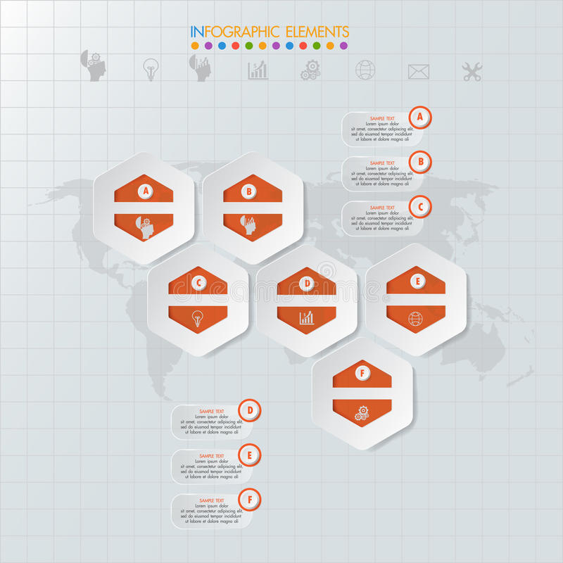 Значки и Busi маркетинга дизайна и шаблона Infographic бесплатная иллюстрация