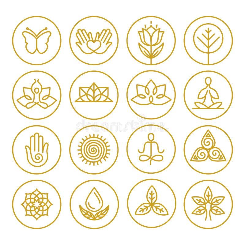 Значки йоги вектора бесплатная иллюстрация