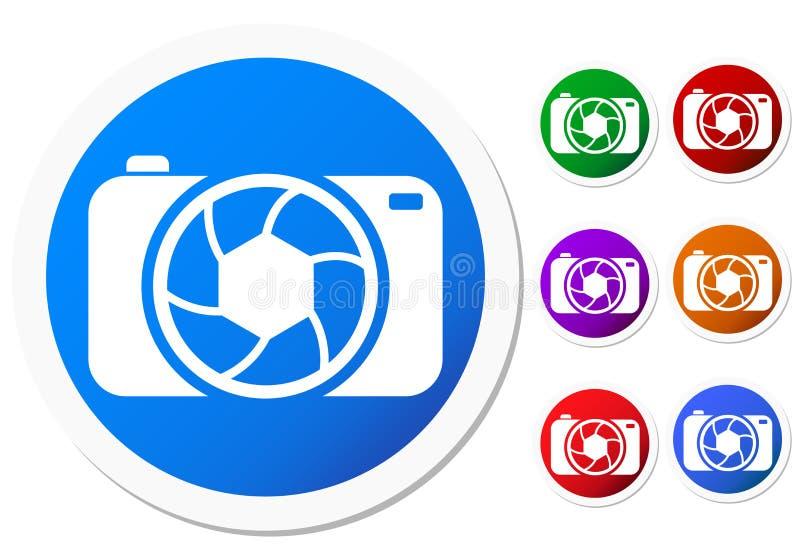 Значки камеры иллюстрация вектора